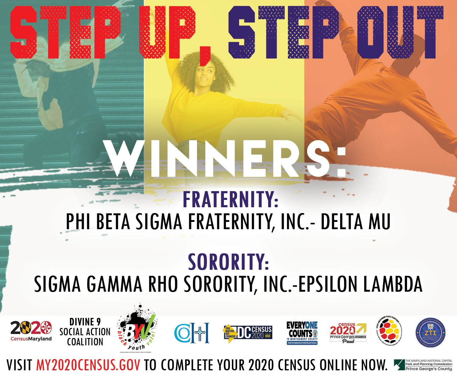 Step Up Step Out Flyer - Cast Your Vote Version