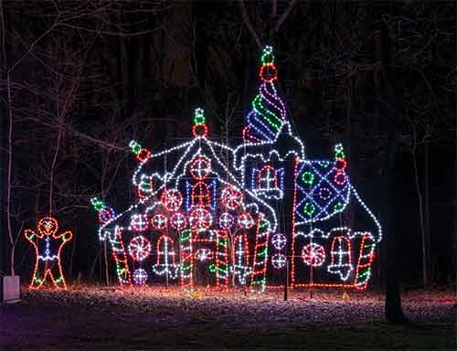 gingerbread house lights