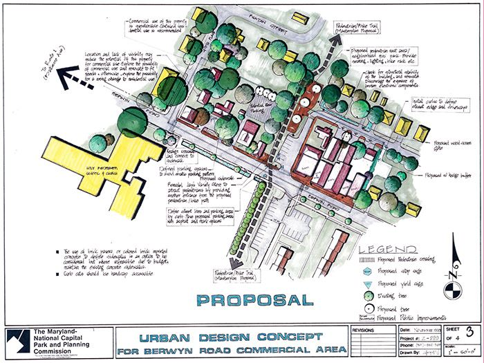 Urban Design Concept for Berwyn Road Commercial Area