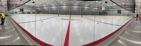 A full view of the renovated ice rink