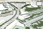 Birds Eye View of Annapolis Road Corridor Looking Toward Metro Core