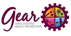 GEAR (Girls Excited About Recreation) Logo