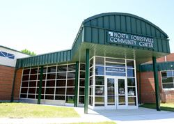 The exterior of North Forestville Community Center building