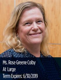 Headshot of Rose Greene Colby, representative at large on the Parks and Recreation Advisory Board
