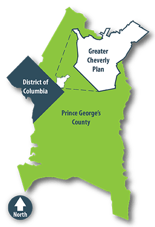 The Greater Cheverly Preliminary Sector Plan Map