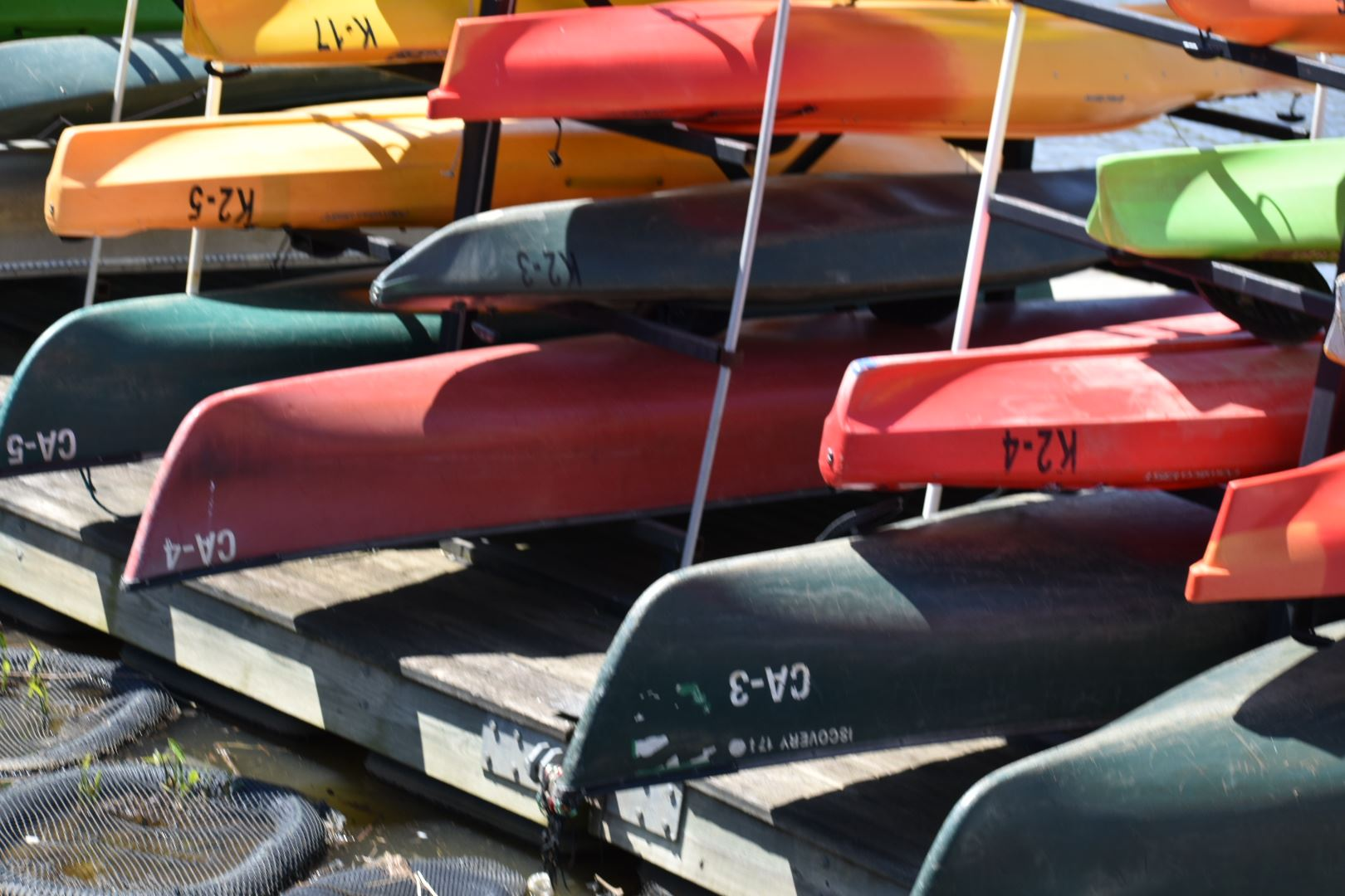 Canoes at Bladensburg Waterfront Park