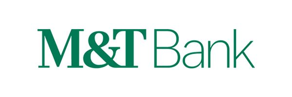 M and T bank logo written in green letters